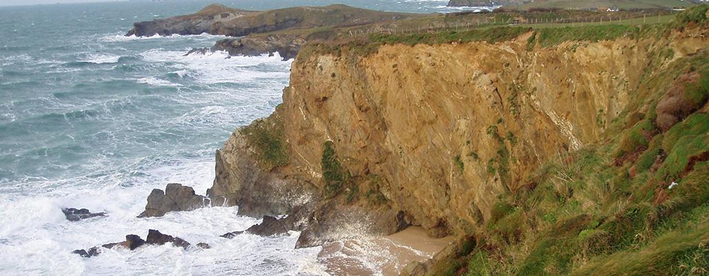 Stunning coastline near Newquay
