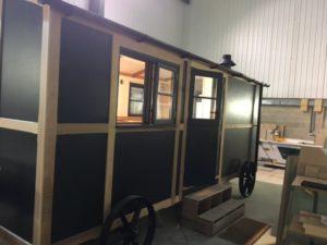 Similar hut being built