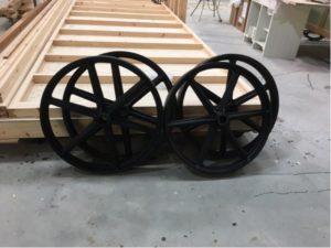 Antique - style cast wheels