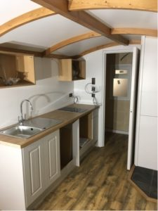 Kitchen towards en suite