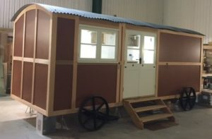 Our own hut being made