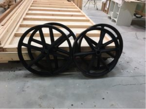 Antique - style cast wheels